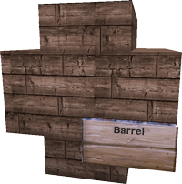 Small barrel with a sign